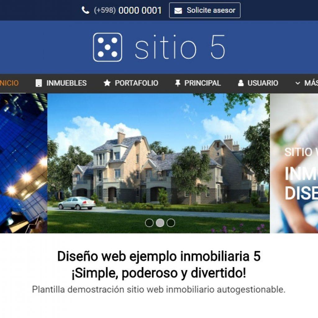 Opción de diseño de sitio inmobiliario. Diseño profesional para resultados superiores.
